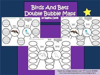 A+ Bats And Birds Double Bubble Maps