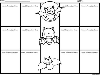 A+ Bats: Easy Plans...Editable Papers For Bat Lessons