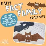 Fact Family Craftivity: Bats