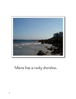 A Beach in Maine Book  Three Sizes  Printable PDF
