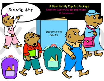 A Bear Family Clipart Pack