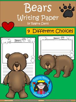 A+ Bears ... Writing Paper