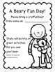 A Beary Fun Day!--Bring your Bear to School for a Day of Math & Literacy