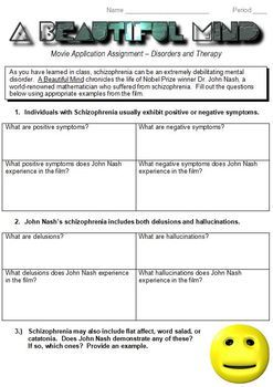 """A Beautiful Mind"" movie worksheet"