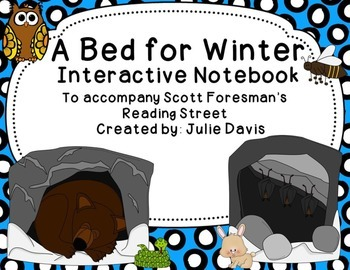 A Bed for Winter Interactive Notebook Journal