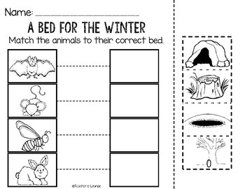 A Bed for the Winter Reading Activities