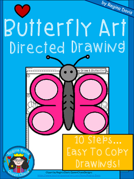 A+ Butterfly Art: Directed Drawing