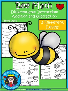 A+ Bee: Math... Addition and Subtraction Differentiated  Practice