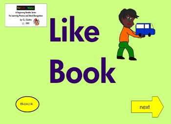 """!A Beginning Phonics Interactive Ebook for Reading the Word """"LIKE"""""""