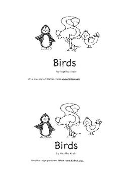 A Beginning Reader About Birds