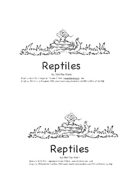 A Beginning Reader About Reptiles