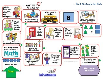 Kind Kindergarten Kids Board Game