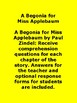 A Begonia for Miss Applebaum Book Unit