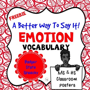 A Better Way to Say it!  Emotion Vocabulary!