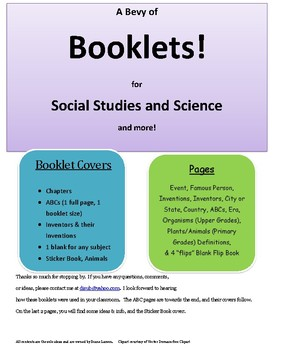A Bevy of Booklets for Social Studies and Science