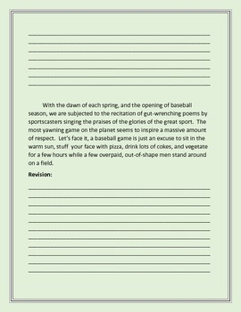 Biased Writing Lesson for Expository Essays