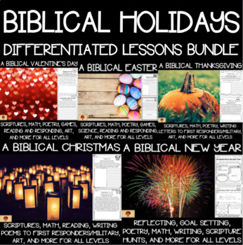 A Biblical Holidays Bundle-Thanksgiving, Christmas, New Year, Valentines, Easter