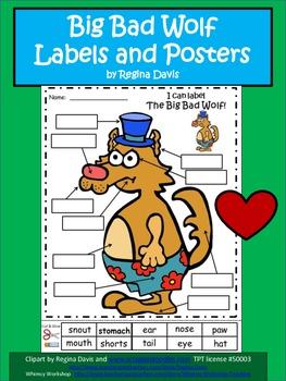 A+ Big Bad Wolf Labels