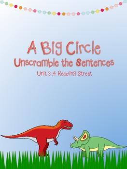 A Big Circle Unscramble the Sentences (2.4 sight words)