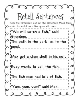 A Big Fish for Max First Grade Reading Street Supplemental Materials