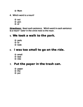 A Big Fish for Max Phonics & Grammar Quiz -sh, th digraphs; al & all, nouns