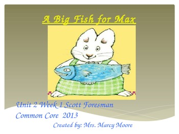 """""""A Big Fish for Max"""" (Sample: Instructional Guide for Reading Street 2013)"""