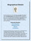 Biographical Sketch Mini Lesson
