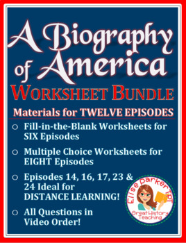 A Biography of America Worksheet Set for Free Online Video Series