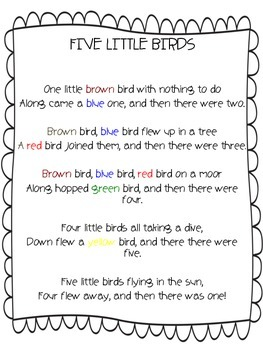 A Bird Poem: An Up and Down Counting Rhyme
