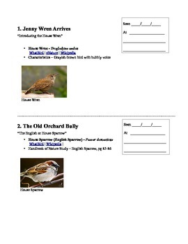 A Bird Sighting Log & Companion for the Burgess Bird Book for Children