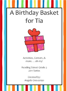 A Birthday Basket For Tia Worksheets & Teaching Resources | TpT