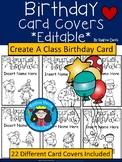 A+ Birthday Card Covers: *Editable*