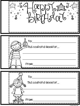 A+ Birthday Coupons: Booklet