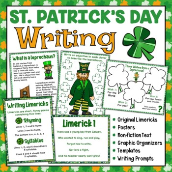 St. Patrick's Day Writing Activities | Writing Prompts | Limericks and Poems Too
