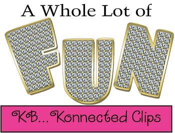 A Bit of Bling Uppercase Alphabet - CU OK!
