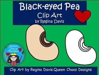 A+ Black-Eyed Pea Clip Art