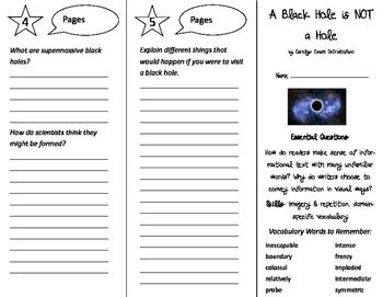 A Black Hole is NOT A Hole Trifold - ReadyGen 5th Grade Unit 3 Module B