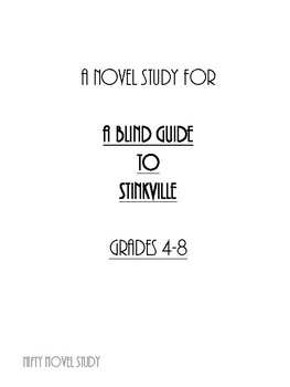 A Blind Guide to Stinkville Novel Study