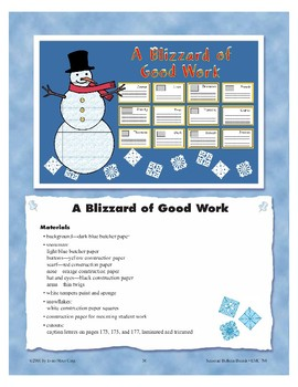 A Blizzard of Good Work (Bulletin Boards)