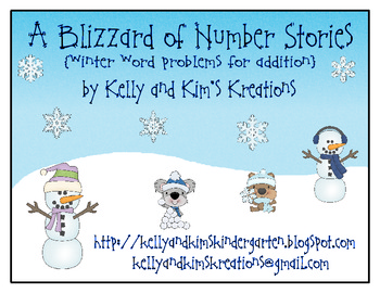 A Blizzard of Number Stories {winter word problems for addition}
