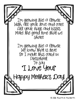 A Blooming Mother's Day Card & Poem FREEBIE!