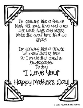 A Blooming Mothers Day Card Poem Freebie