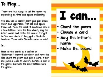 A Boo-tastic Review: Letter & Sound Practice - Halloween Lesson