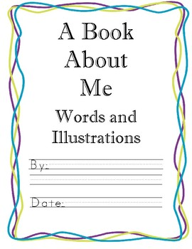 A Book About Me - Beginning of the Year Student Book