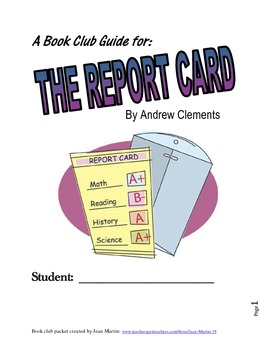 A book club guide for the report card by andrew clements tpt a book club guide for the report card by andrew clements publicscrutiny Gallery