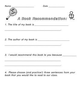 A Book Reccomendation