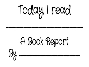 A Book Report Packet