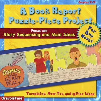 A Book Report Puzzle-Piece Project for Any Novel-- Story S