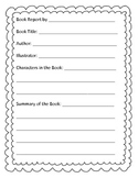 A Book Report Template for Young Readers