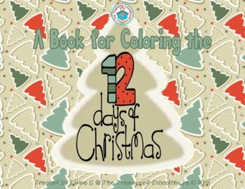 a book for coloring the 12 days of christmas gift tree sheet - 12 Days Of Christmas Book